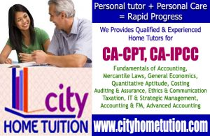 CA-CPT, CA-IPCC Home Tuitions in Hyderabad