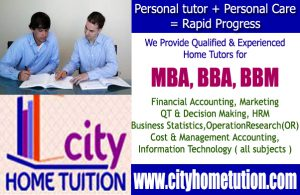 MBA-BBA Home Tuitions in Hyderabad and Secunderabad